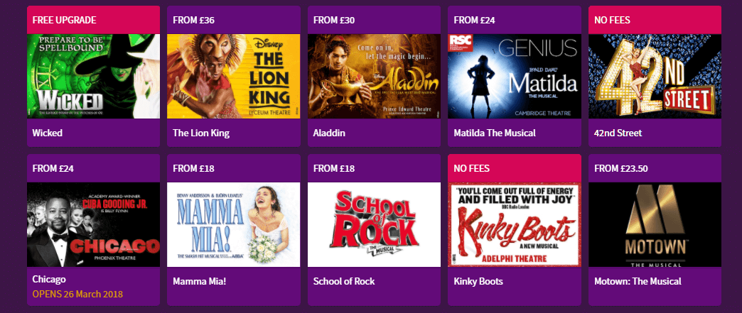London Theatre Direct theatre shows