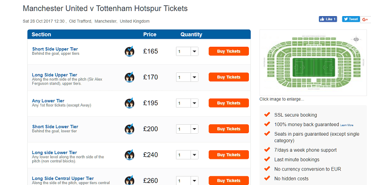 wowtickets football match ticket prices