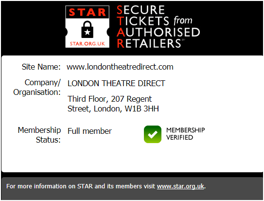 Suecure purchase at london theatre direct along with multiple payment options