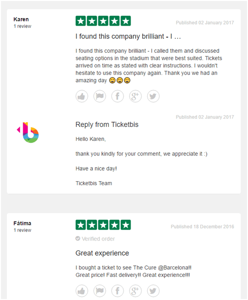 Ticketbis trustpilot reviews
