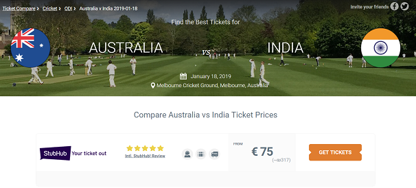 Australia v India tickets